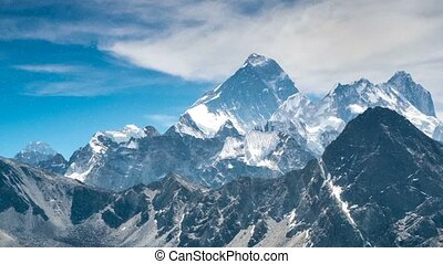 Trekking in Himalaya, Nepal - Beautiful snow-capped...