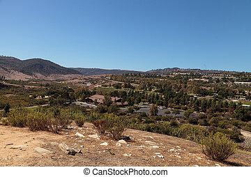 Aliso Viejo Wilderness Park view from the top hill in Aliso...