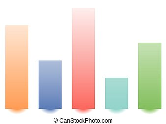 Bar chart / bar graph with random levels for analysis,...