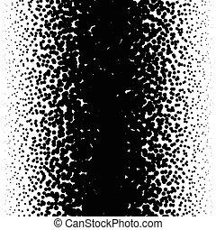 Random halftone, pointillism pattern - Irregular dots...