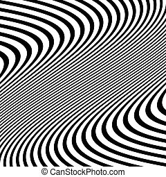 Distorted abstract monochrome pattern of asymmetric /...