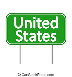 United States road sign.
