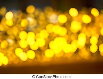 Yellow spot bokeh background hd