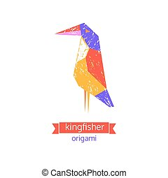 Emblem sign background - Tropical bird icon. Abstract...