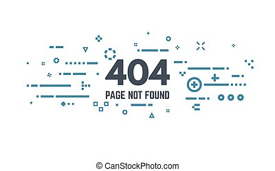 404 page error - 404 error page flat line concept. Link to a...