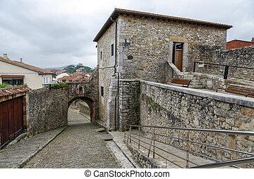 San Vicente de la Barquera Medieval Town views Spain