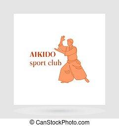 Aikido sport club logo design - Fight club logo design...