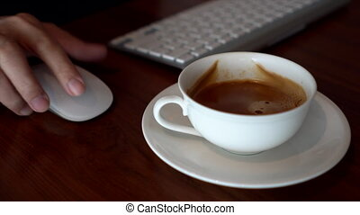 Businessman Typing And Drinking Coffee 02 - This video is...