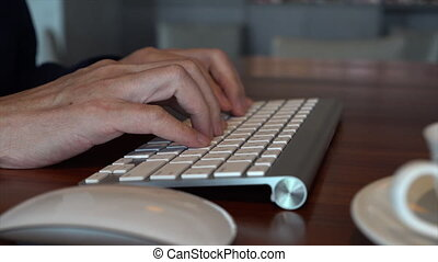 Close Up Of Businessman Typing - This video is about Close...
