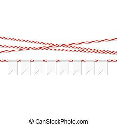 Background with bunting banner - Abstract white background...