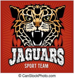 Sport team - Jaguar, wild cat Panther. Vector illustration,...