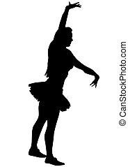 Ballet girl on white