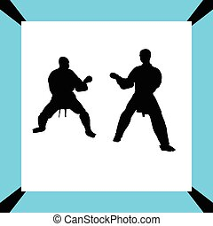 Karate silhouette vector