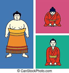 Vector illustration japanese boy. Traditional Japanese...