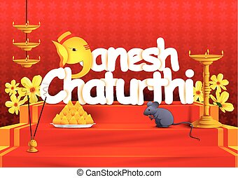 Ganesh Chaturthi wallpaper background - vector illustration...