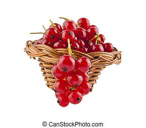 red currant isolated on white background closeup