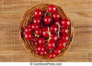currants on a wooden table closeup