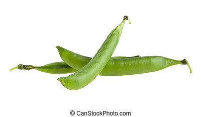 peas isolated on white background closeup