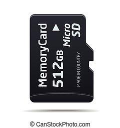 Micro SD memory card - vector Micro SD memory card