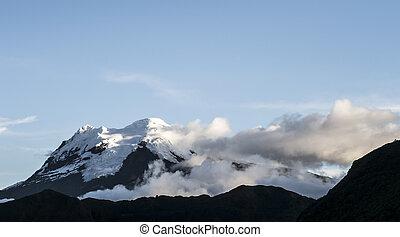Antisana volcano. National Park Cayambe-Coca Ecuador under...