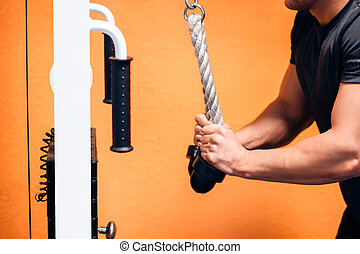 Triceps Exercise With Cables - Triceps workout at a cable...