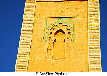 history maroc africa the blue sky - in maroc africa minaret...