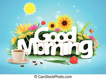 Good Morning wallpaper background - vector illustration of...