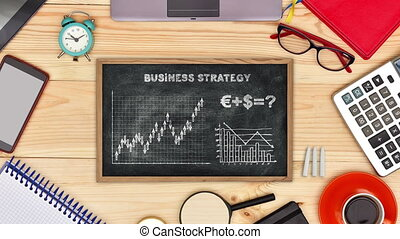 Strategy For Success - Blackboard With Drawing Strategy For...