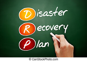 Hand drawn DRP - Disaster Recovery Plan, acronym business...
