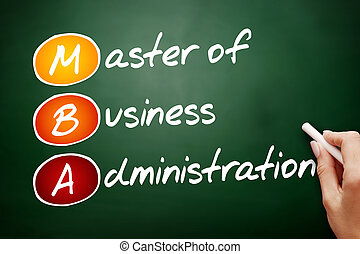 MBA - Master of Business Administration - Hand drawn MBA -...
