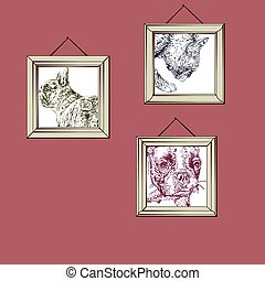 French Bulldog - Hanging pictures of French Bulldog...
