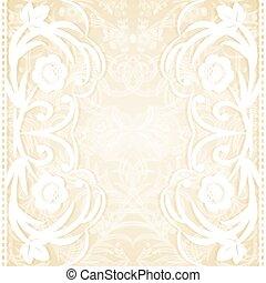 wedding invitation - Delicate lace wedding invitation....