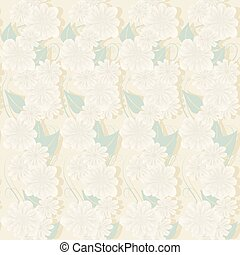 delicate floral - Seamless gentle floral pattern in pastel...
