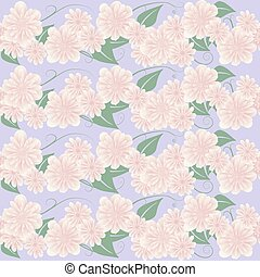 pink floral - Seamless gentle floral pattern. Vector...