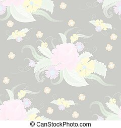 pale floral - Seamless pale floral pattern. Vector...