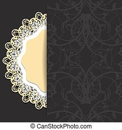 dark with openwork - Abstraction dark background with...