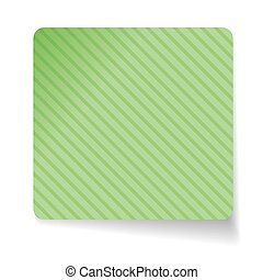 Green paper sticker vector
