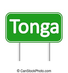 Tonga road sign. - Tonga road sign isolated on white...