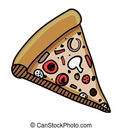 pizza slice icon image vector illustration design