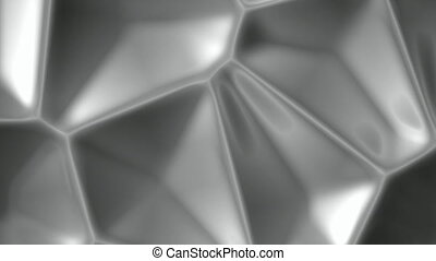 Gray cellular metal surface abstract motion background...