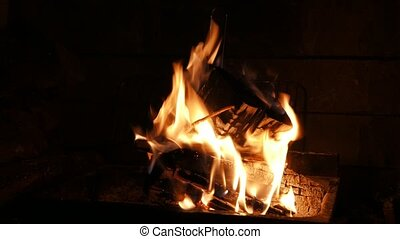 Warm hearth fire. 4k - Warm fire brings peace and relaxation...