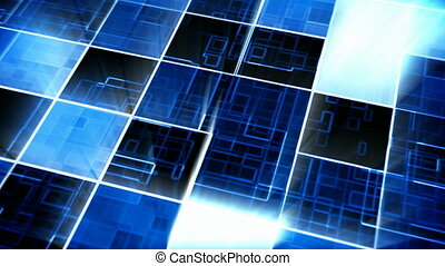 Abstract square shape pattern motion background seamless...