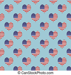 Vintage Usa Flag Icon Seamless Pattern