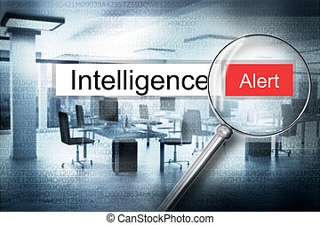 reading intelligence browser search 3D Illustration