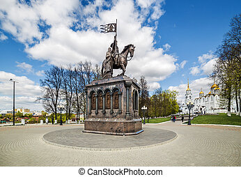 Monument of Prince Vladimir in Vladimir. Russia
