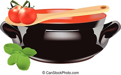 omatoes with terracotta casserole - Tomatoes with clay dish...