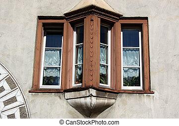 Windows with Balcony - Samedan Switzerland - Typical windows...
