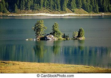 Silsersee Lake Sils - Engadin Switzerland - Lake Sils or...