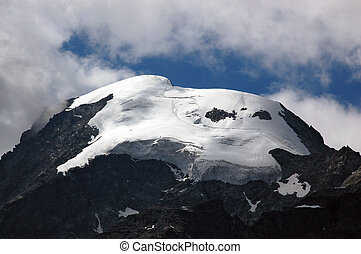 Glacier of Bernina Alps - Engadine Switzerland - Detail of...