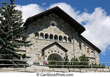 Saint Mauritius Church - Saint Moritz - Facade of the church...